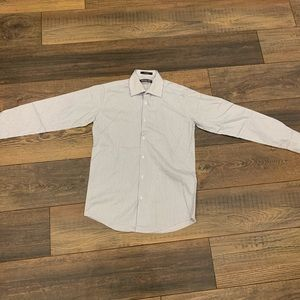 Micheal Kors white and blue button down